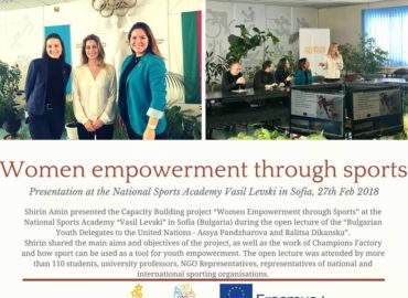 Shirin Amin presented Women Empowerment through Sports