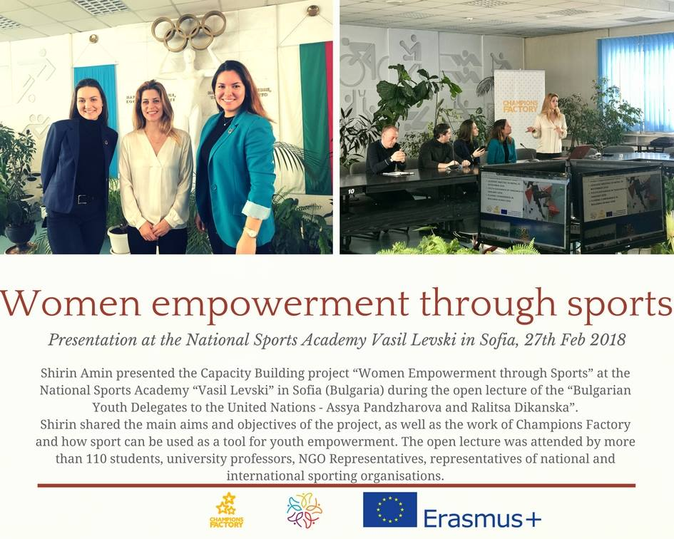 Shirin Amin presented Women Empowerment through Sports